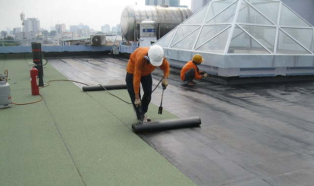 Thi công chống thấm sân thượng tại Nghệ An